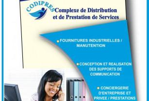Support de communication/furniture industrielle/conciergerie-prestations