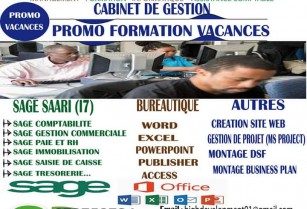 Promo formation formation informatique, Bureautique, Gestion/SAGE SAARI (i7)