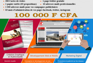 Promotion site internet à 100 000 F CFA