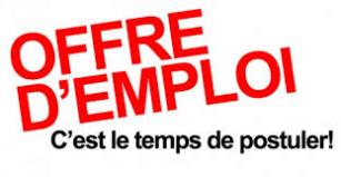 Offre d'emploi – Prospection