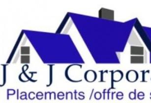 J & J CORPORATION, dans les domaines immobilier et placement de personnel